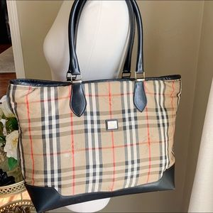 Vintage Burberry Nova Check Shoulder Bag Tote